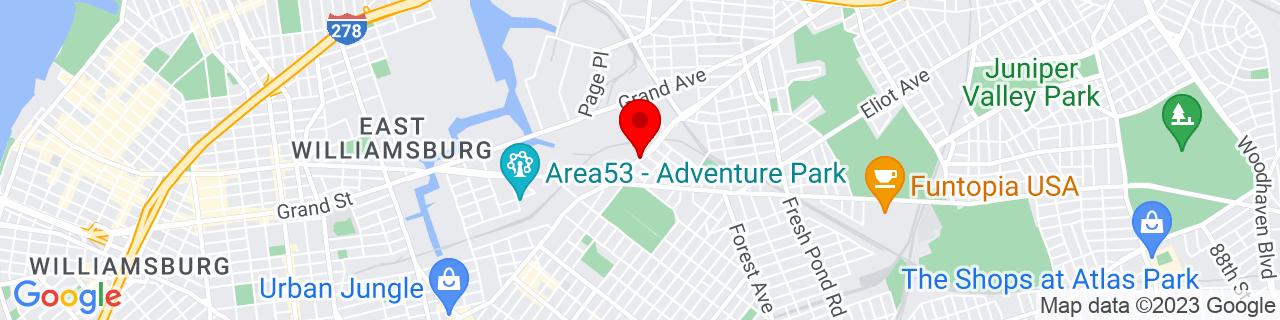 Google Map of 40.7150521, -73.91322679999999