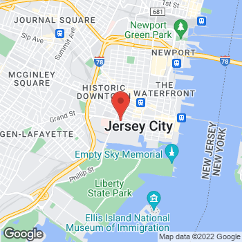 Map of BAYADA Hospice at 299 Grand Street, Jersey City, NJ 07302