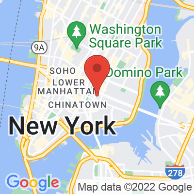 Map showing Irving Farm Coffee Roasters — Lower East Side
