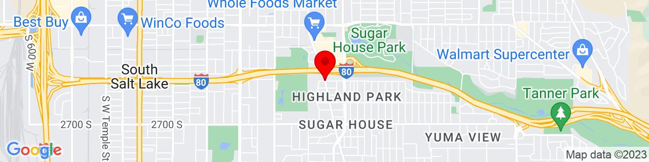 Google Map of 40.7182502, -111.8568726