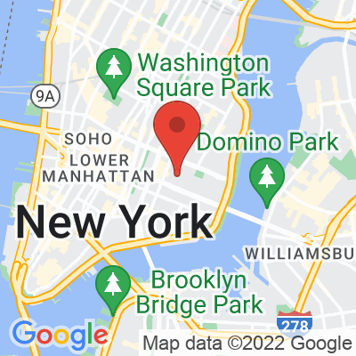 Map showing Blue Bottle Coffee — Lower East Side