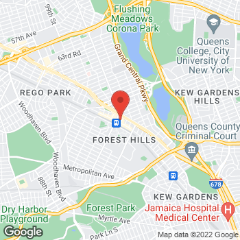 Map of Liberty Travel at 107-15 71st Rd, Forest Hills, NY 11375