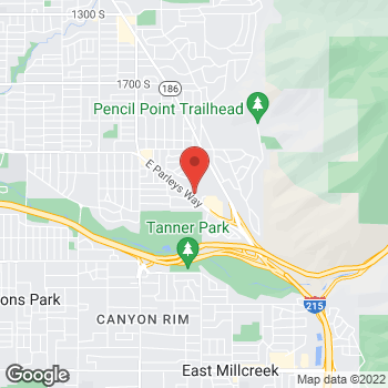 Map of Tamiyah Dinh, NP at 2645 E Parley's Way, Salt Lake City, UT 84109