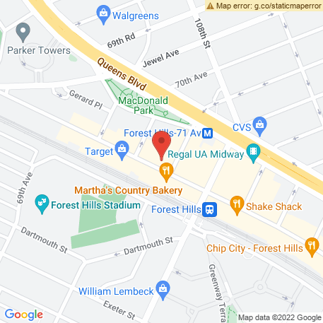 Bokharian Jewish Community Center on Map (7019 Austin St, Forest Hills, NY 11375) Map