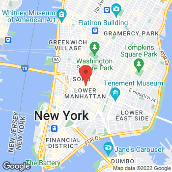 Map of BCBGMAXAZRIA at 77 Mercer St, New York, NY 10012