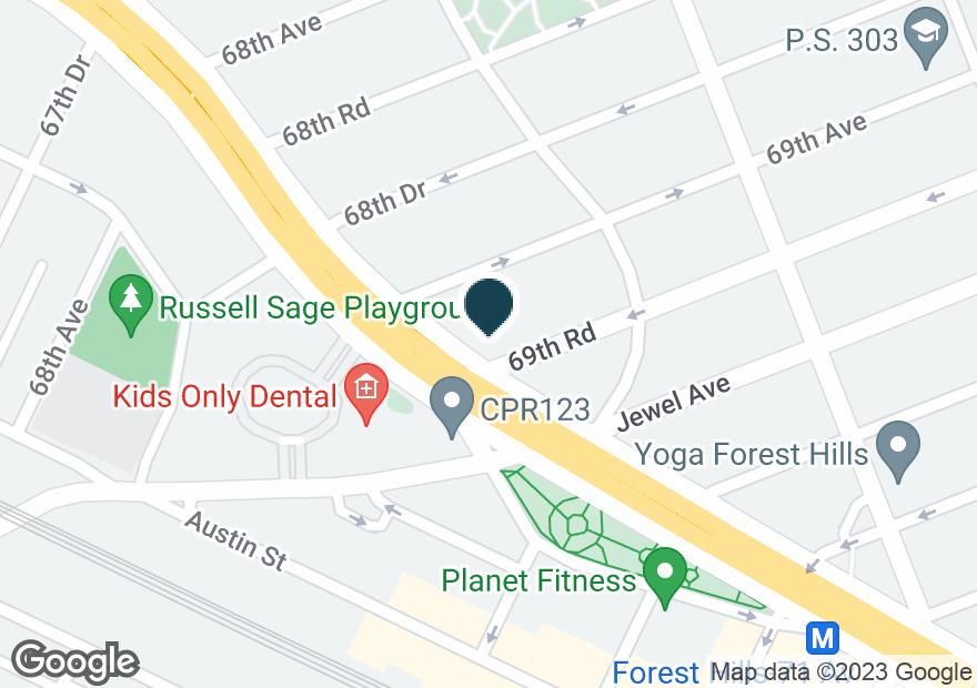 Google Map of10425 QUEENS BLVD