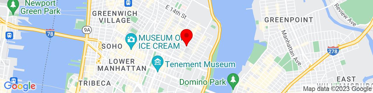 Google Map of 40.724462, -73.98163269999999