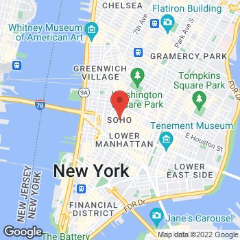 Map of Sunglass Hut at 157 Spring St At W B'Way, New York, NY 10012