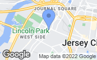 Map of Jersey City, NJ