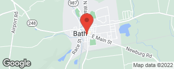 Map of 100 W Main St in Bath