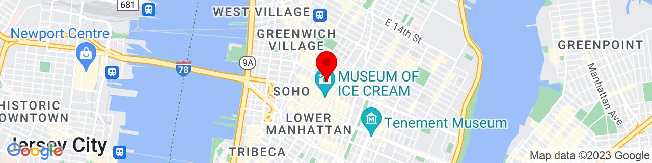 Google Map of 40.7257515, -73.99767280000003