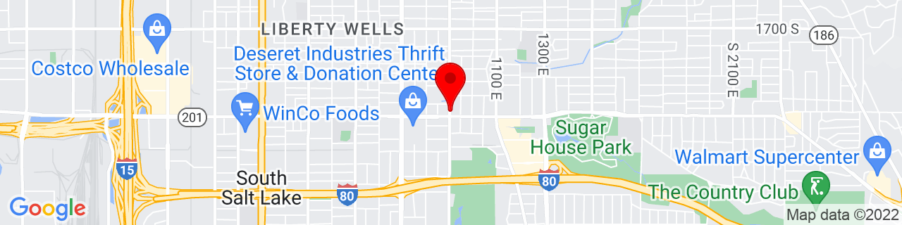 Google Map of 40.725833333333334, -111.86527777777778