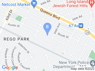Map of On All Fours Cat Sitting Dog Boarding options in Rego Park | Boarding