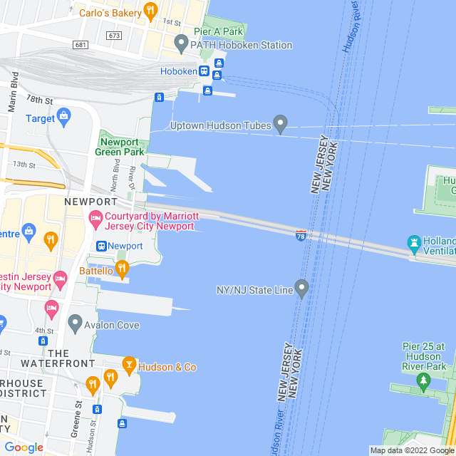 Map of Holland Tunnel