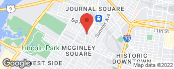 Map of 844 Bergen Ave in Jersey City