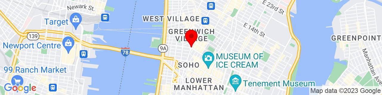 Google Map of 40.7283726, -74.002828