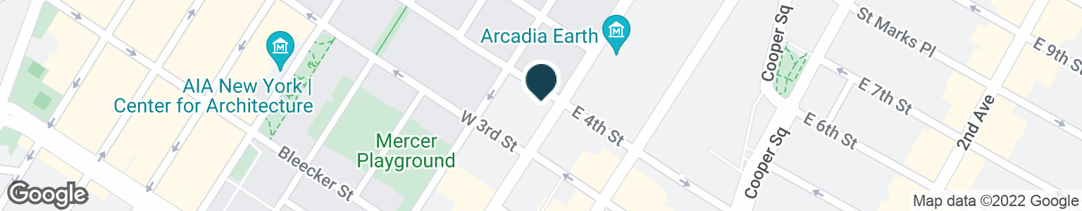 Google Map of4 W 4TH ST