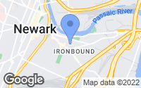 Map of Newark, NJ