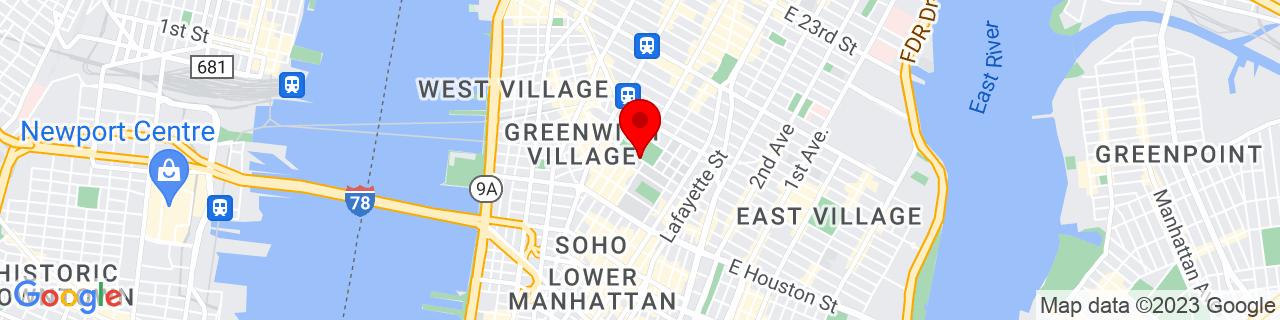 Google Map of 40.7301378, -73.9977133
