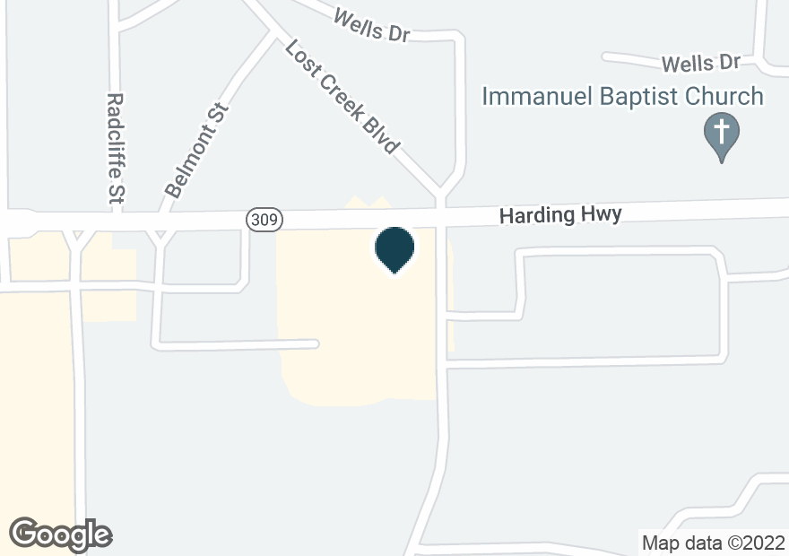 Google Map of2366 HARDING HWY