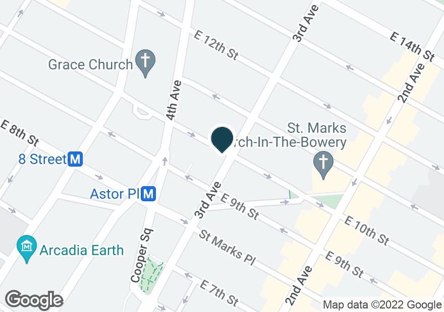 Google Map of46 3RD AVE