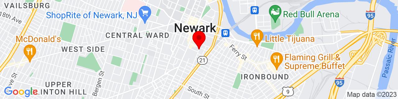 Google Map of 40.7311258, -74.1712826