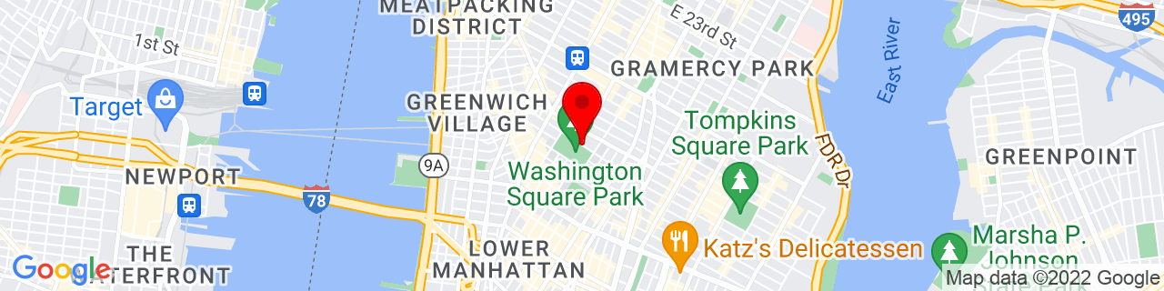 Google Map of 40.7312858, -73.99670619999999