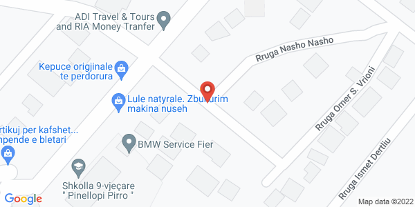 Google Map of Rruga Thoma Pogaçe, Fier, Αλβανία