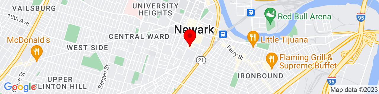 Google Map of 40.7317714, -74.173594