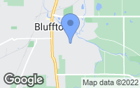 Map of Bluffton, IN