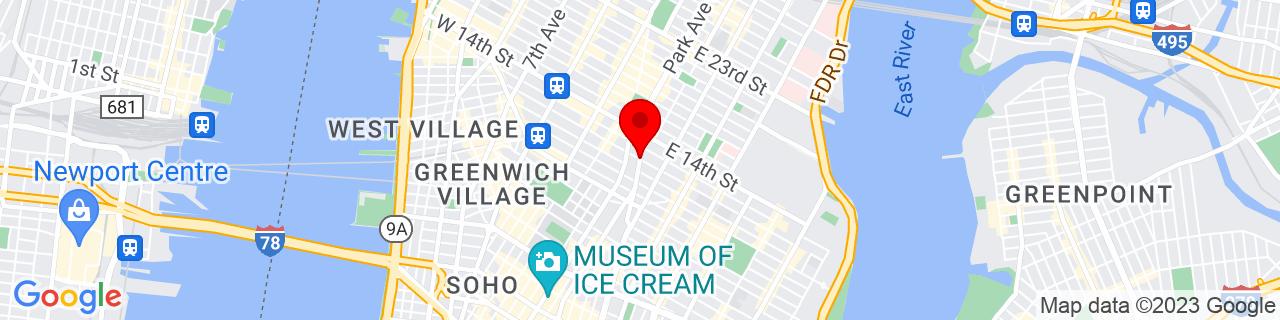 Google Map of 40.7327314, -73.9900339