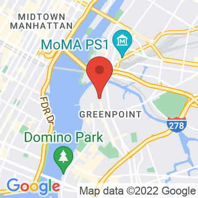 Map showing Sweetleaf Coffee Roasters — Greenpoint