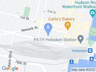 Map of Colorful Dogs Dog Boarding options in Hoboken | Boarding