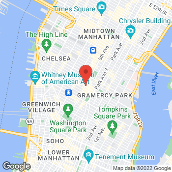 Map of Charlotte Tilbury - Sephora Flat Iron at 119 5th Avenue, New York, NY 10003