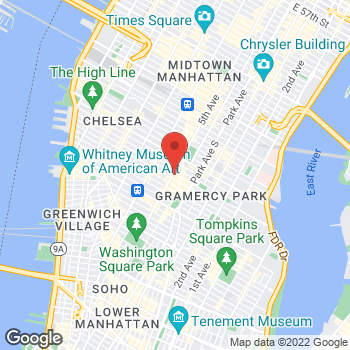 Map of Michael Kors - Temporarily Closed at 133 Fifth Ave, New York, NY 10003