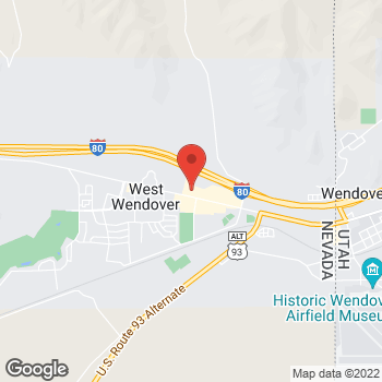 Map of Arby's at 1200 W Wendover Blvd, West Wendover, NV 89883