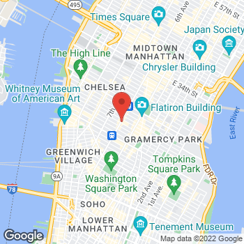 Map of Bed Bath & Beyond at 620 Sixth Ave, New York, NY 10011
