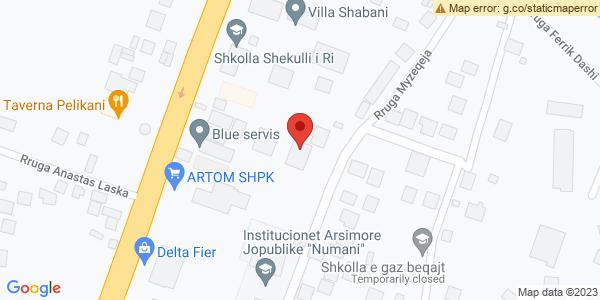 Google Map of Rruga Myzeqeja 822, Fier, Αλβανία