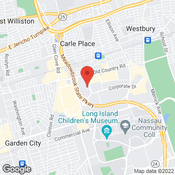 Map of BAYADA Adult Nursing at 825 East Gate Boulevard, Garden City, NY 11530