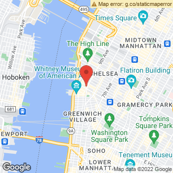 Map of Yext at 61 Ninth Avenue, New York, NY 10011
