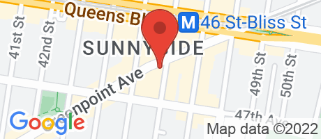 Branch Location Map - Bank of America, Sunnyside Branch, 4526 Greenpoint Avenue, Sunnyside NY