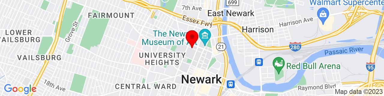 Google Map of 40.74239250000001, -74.1750943