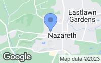 Map of Nazareth, PA