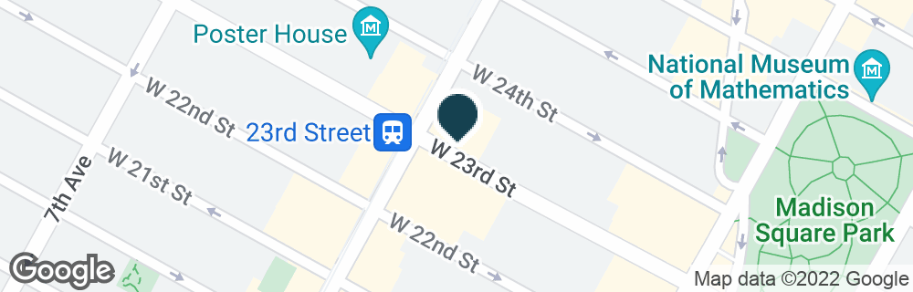 Google Map of71 W 23RD ST
