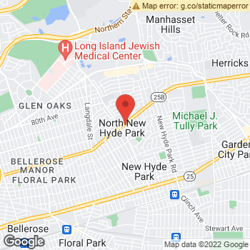 Map of Dr. Steven Speiser, Optometrist, and Associates - New Hyde Park at 932 Hillside Avenue, New Hyde Park, NY 11040