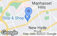 Map of New Hyde Park, NY