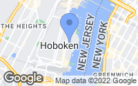 Map of Hoboken, NJ