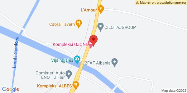 Google Map of Rruga Teodor i II Muzaka, Fier, Αλβανία
