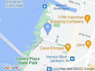 Map of Barlin Bruce Proprietor   Pooches Sport & Spa Dog Boarding options in Long Island City | Boarding