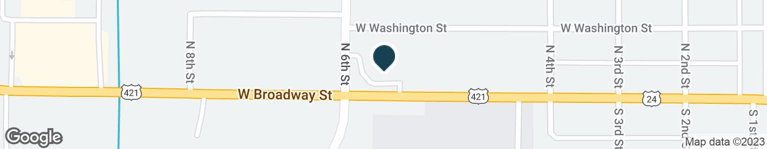 Google Map of812 W BROADWAY ST